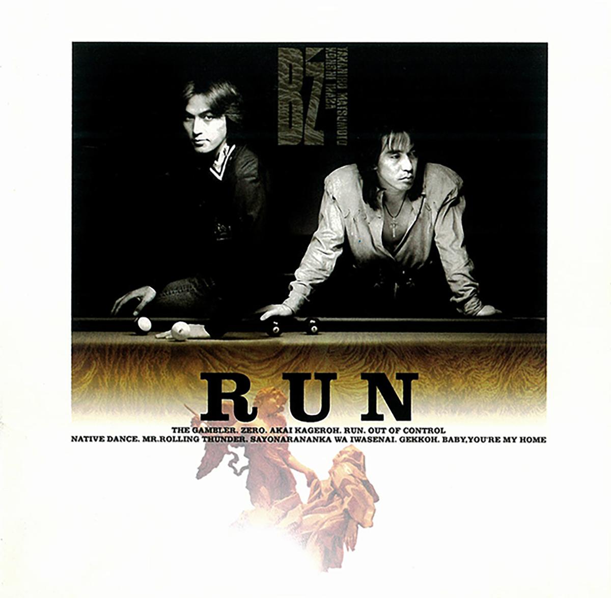 B'z 6th ALBUM『RUN』のジャケット画像
