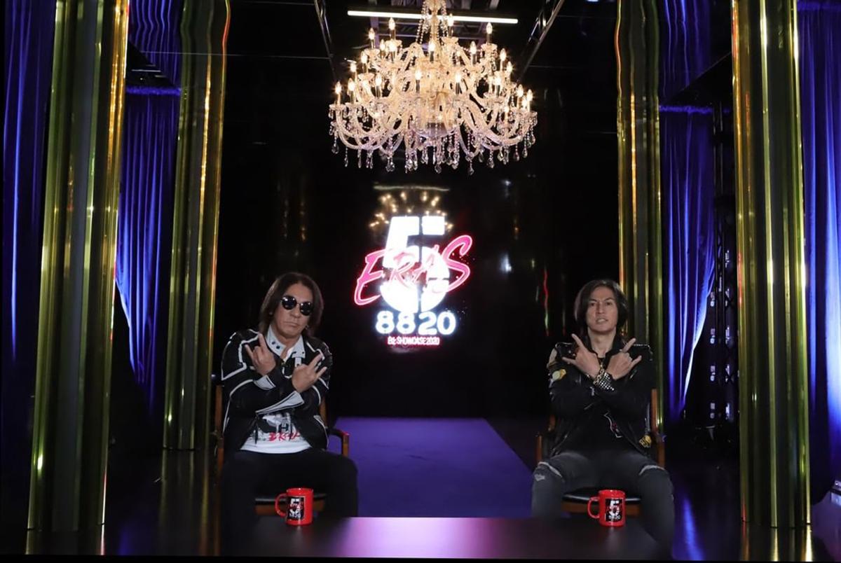 B'z公式SNSで公開された松本孝弘(Gt.)と稲葉浩志(Vo.)による無観客配信ライブ「Day5」の告知画像