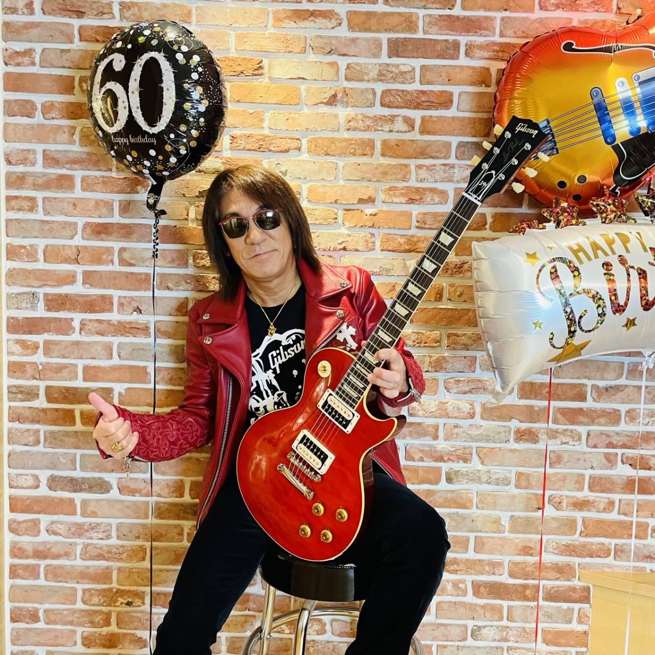 B'z松本孝弘が60歳・還暦を迎えた写真