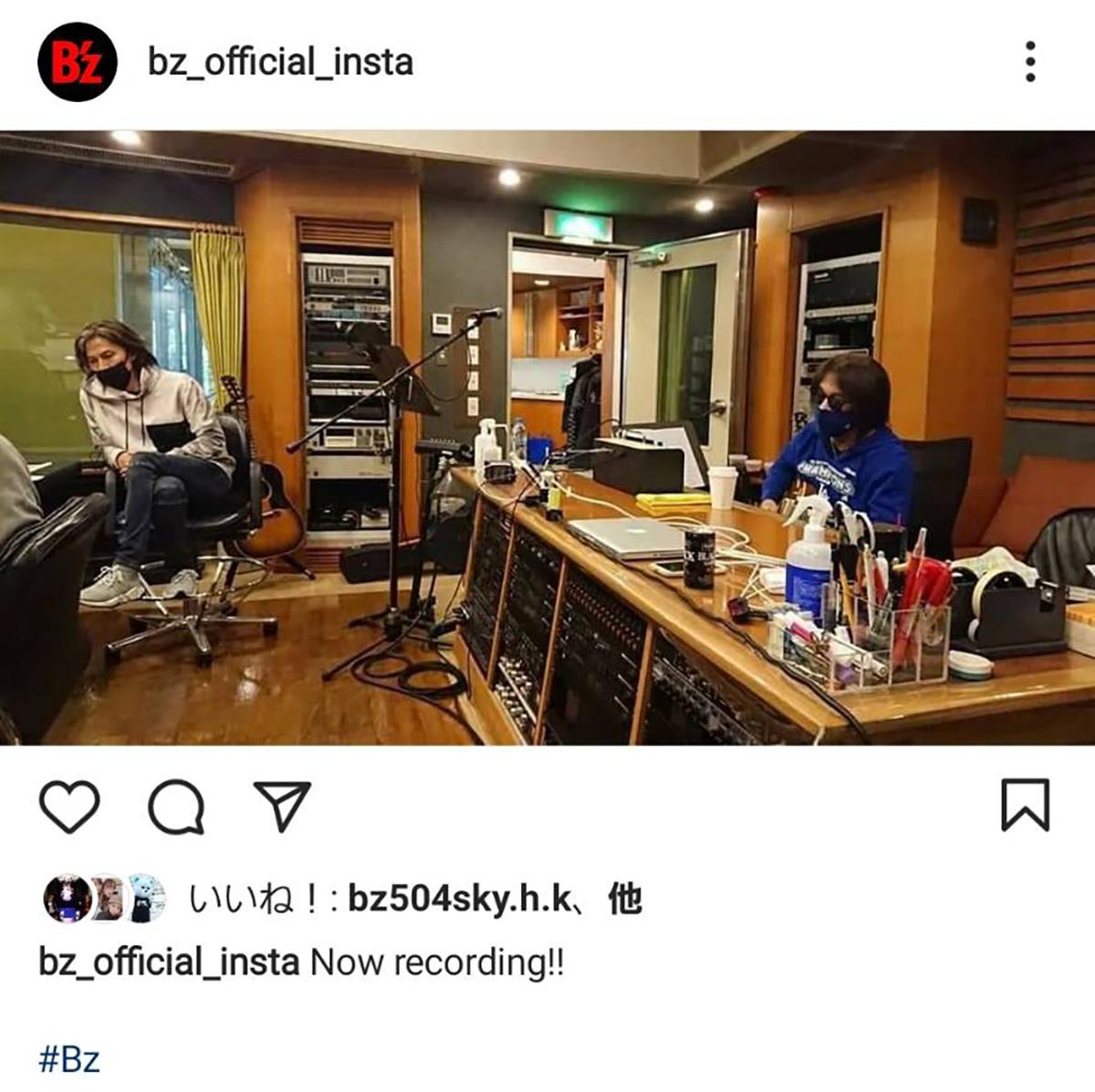 B'zのレコーディング風景の写真