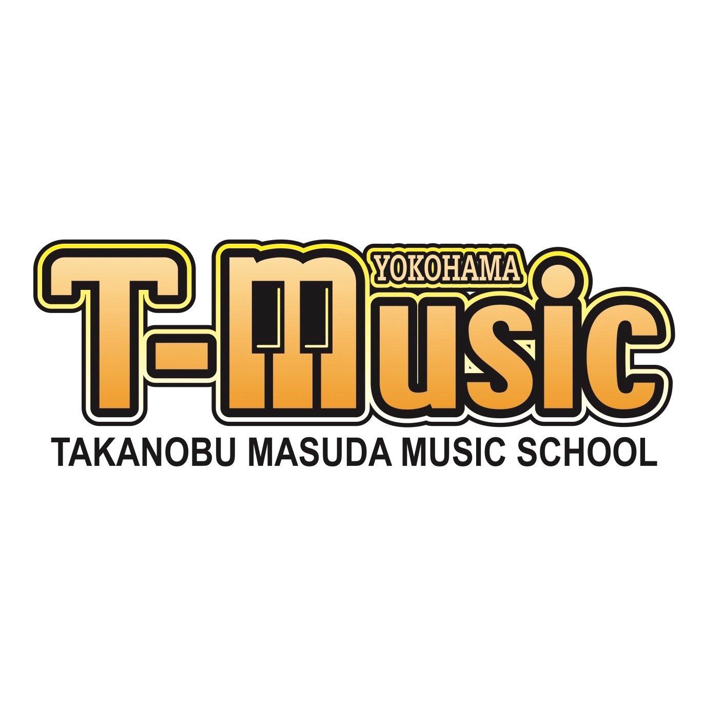 増田隆宣の音楽スクール「T-Music Yokohama」のロゴ