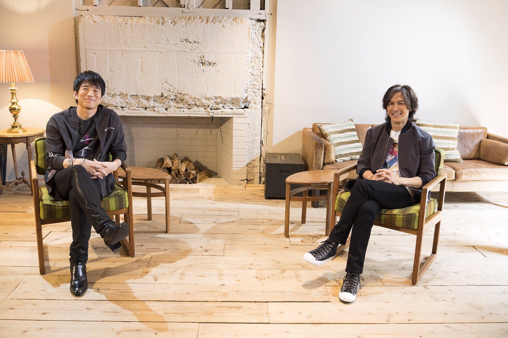 B'z稲葉浩志とMr.Children桜井和寿のツーショット