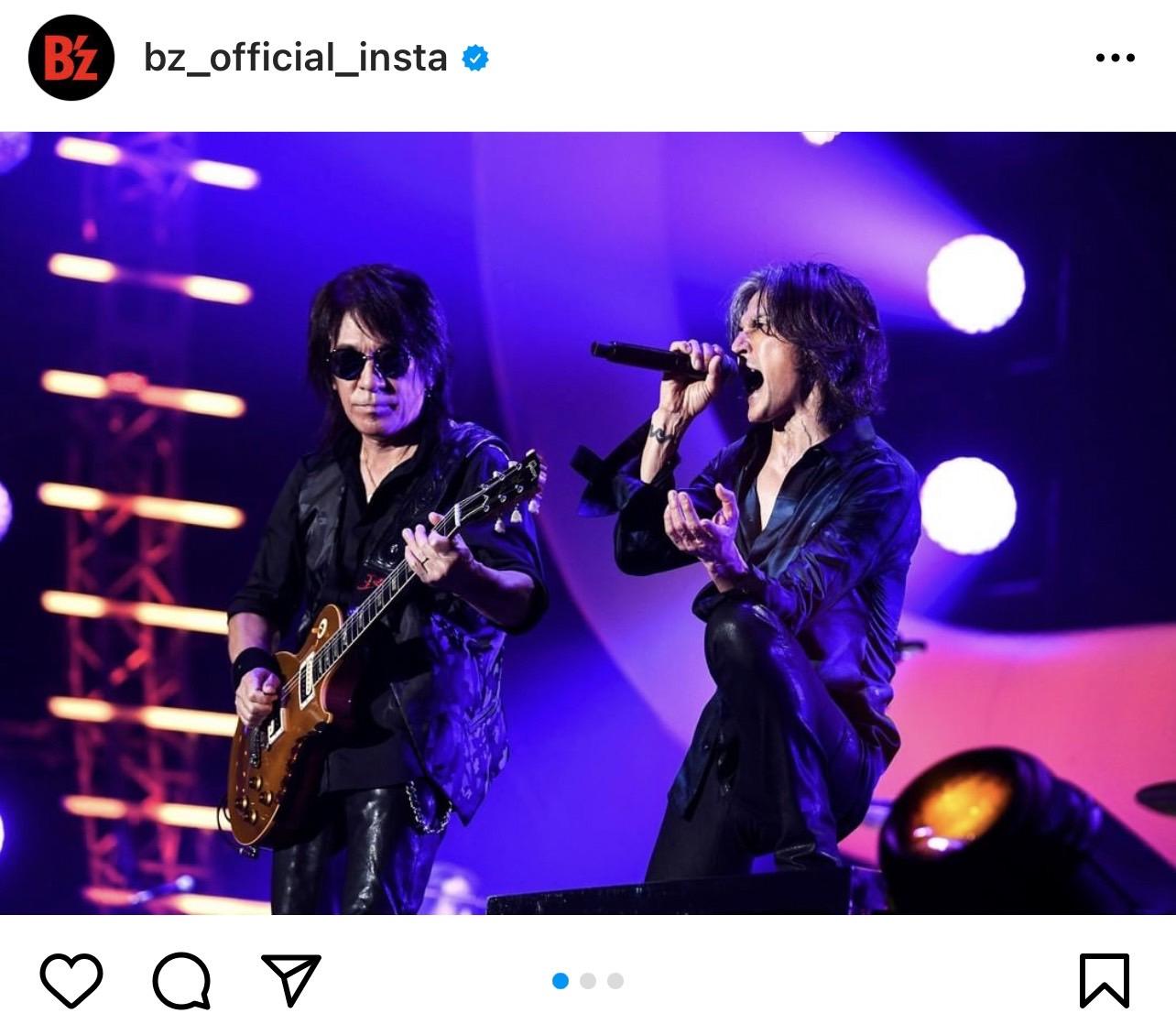 B'z公式SNSで公開された『テレビ朝日ドリームフェスティバル2021』のステージ写真