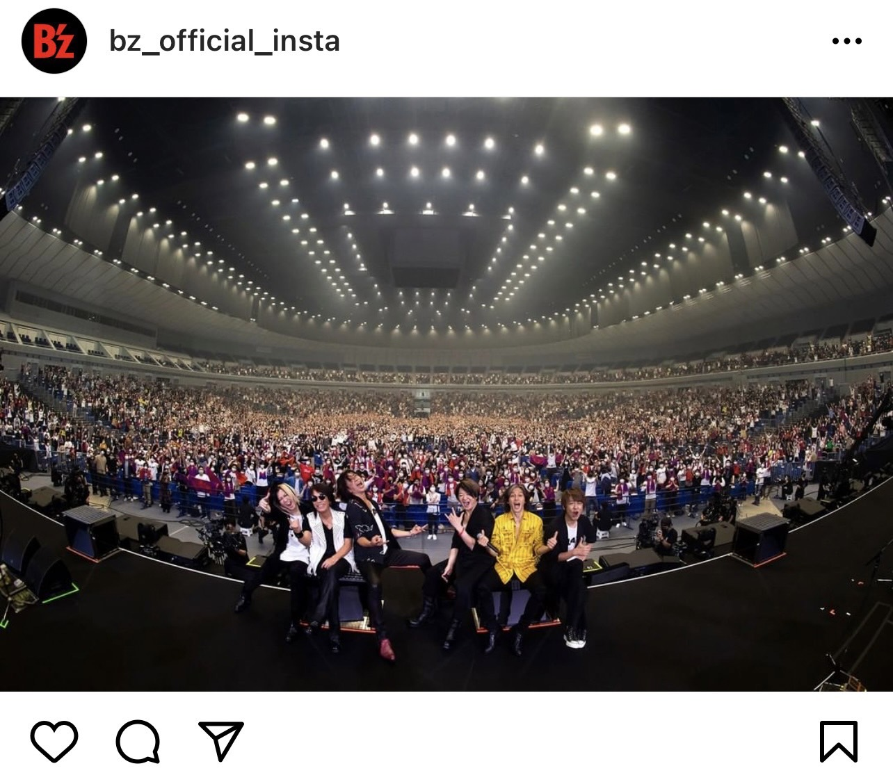 B'zとGLAYのメンバーが集合した『B'z presents UNITE #01』横浜公演の写真