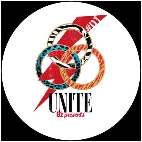 『B'z presents UNITE #01』でプレゼントされるドラムヘッド(白)