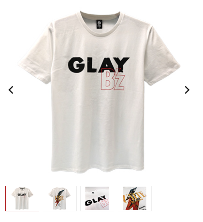 B'zとGLAYのコラボTシャツの画像