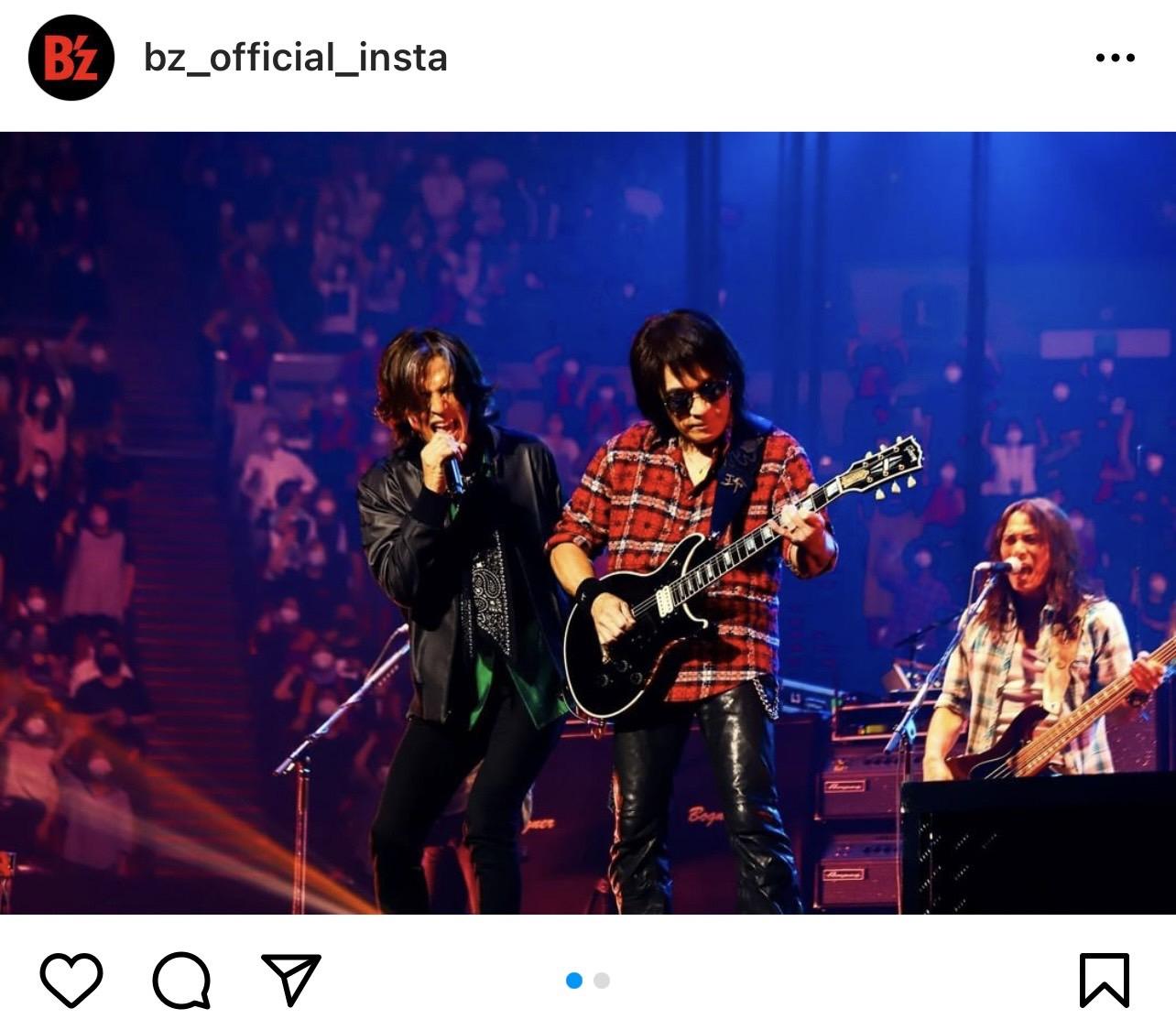 B'z公式Instagramに投稿された『B'z presents UNITE #01』大阪公演のステージ写真(第2弾)
